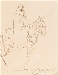 cavalier arabe by jacques majorelle