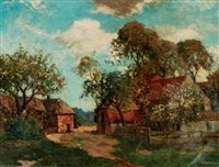 cottages in summer by charles dankmeijer