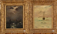 marines (2 works) by alfred stevens