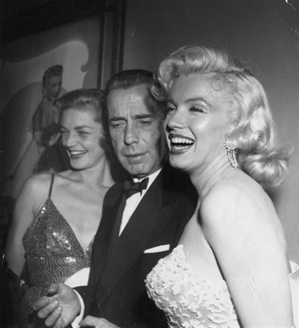 Marilyn Monroe Humphrey Bogart and Lauren Bacall