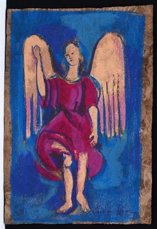 ángel rosa àngel con mandolina 2 works by carmen parra