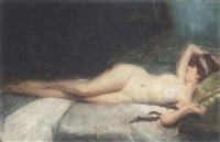 reclining nude by vincent anglade