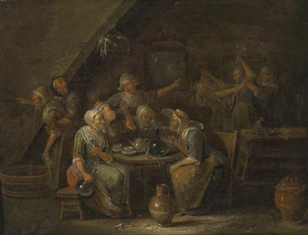 frauen im wirtshaus by egbert van heemskerck the elder