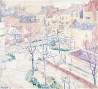 jardins en ville sous la neige by henri le roux