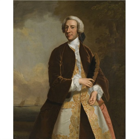 portrait of captain saumarez by john wollaston