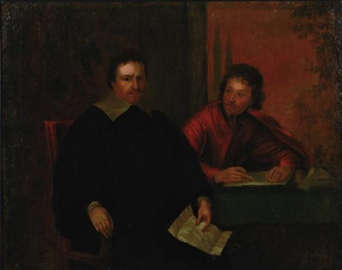 thomas wentworth 1st earl of strafford with sir philip mainwaring after the original painted 1634 by sir anthony van dyck