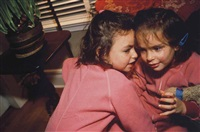 the twins gossiping, thanksgiving, connecticut by nan goldin