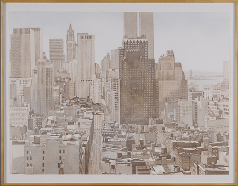 view over soho by philip pearlstein