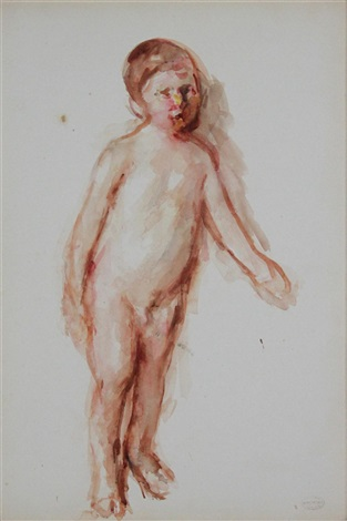 enfant nu by mary cassatt