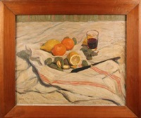 nature morte aux amandes et citrons by louis charlot
