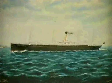 ss corinthic off pencarrow wellington nz by frank barnes