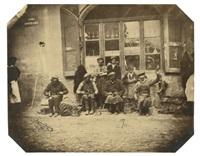 cordonniers au travail devant une boutique by ludwig angerer