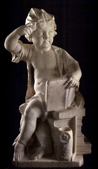 a seated youth emblematic of the arts by artus quellin the elder