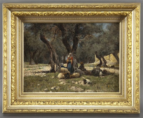 in the olive grove by edwin lord weeks