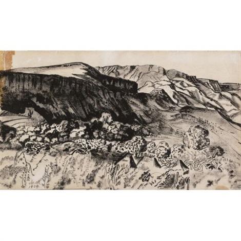 barranca dibujo by dr atl gerardo murillo