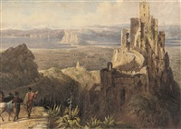 gaucin, with a distant view of gibraltar by william henry bartlett