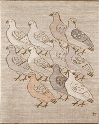 tapestry, pigeons by dora jung