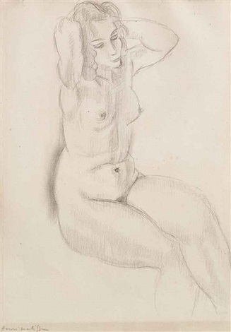 femme nue assise by henri matisse
