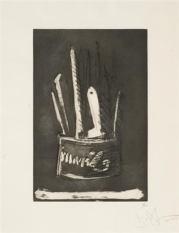 paint brushes from 1st etchings 2nd state by jasper johns