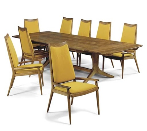 dining table (+ 8 chairs; set of 9) by sam maloof  sc 1 st  Artnet & Dining table 8 chairs set of 9 by Sam Maloof on artnet