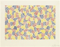untitled i (hatching) by jasper johns