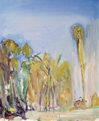 landscape with trees by ofer lellouche