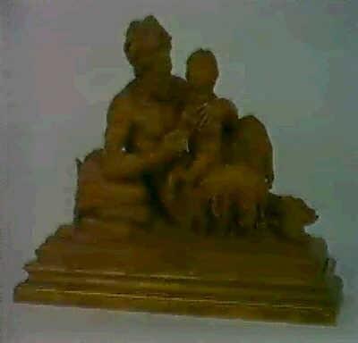 el dios pan ensenando a dionisios a tocar la flauta by azori
