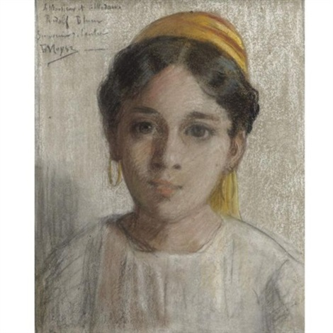 portrait of a north african jewish girl by edouard moyse