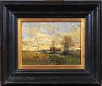 paysage avec fermette by alfred théodore joseph bastien