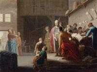 die berufung des heiligen matthäus by claes cornelisz moeyaert