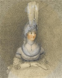 portrait of h.r.h. princess charlotte, the princess royal, later queen charlotte of württemberg by peltro william tomkins