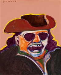 untitled (indian with turquoise teeth) by fritz scholder