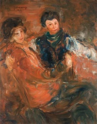 seated couple by joseph kossonogi