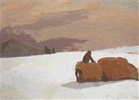 le paysan dans la neige by maurice le scouezec