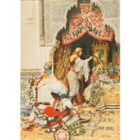 harem girls preparing for the festivites by jaromir kocourek