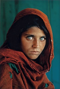afghan girl (pakistan, refugee camp). fujucolor by steve mccurry