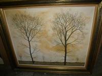 champs d'arbres en automne by hubert aicardi
