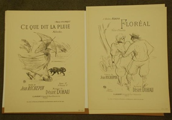 mélodies de désiré dihau 14 works by henri de toulouse lautrec