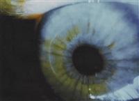 cln-4711 (blue eye). cibachrome unter plexiglas montiert by pipilotti rist