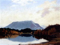 carn glas, loch affric (+ sunshine in the highlands, 1948; pair) by william douglas macleod