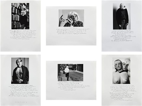who is sidney sherman set of 6 by duane michals