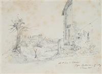 die gärten des sallust in rom von den barberini weinbergen betrachtet by carl morgenstern