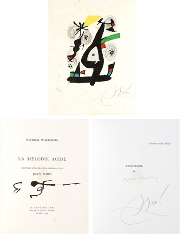 la melodie acide by patrick waldberg set of 14 by joan miró