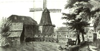 the windmill, wandsworth, surrey by francis (capt.) grosse