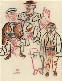 two studies from the shtetl by william gropper