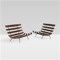 settees (pair) by martin eisler and carlo hauner