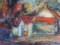 maisons rouges by eugène leroy