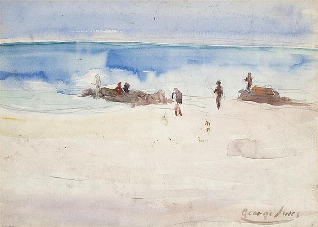 beach scene study by george benjamin luks