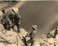 workmen at boulder dam by ben glaha