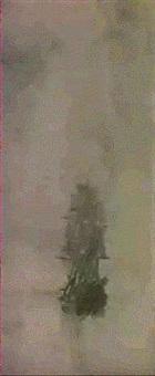 a man-o'-war in a calm by konstantinos bolanachi